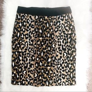 WHBM Leopard Print Pencil Skirt | Sz 8